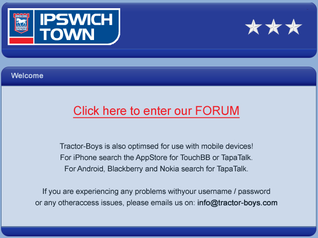 Click here to enter the Tractor Boys Forum